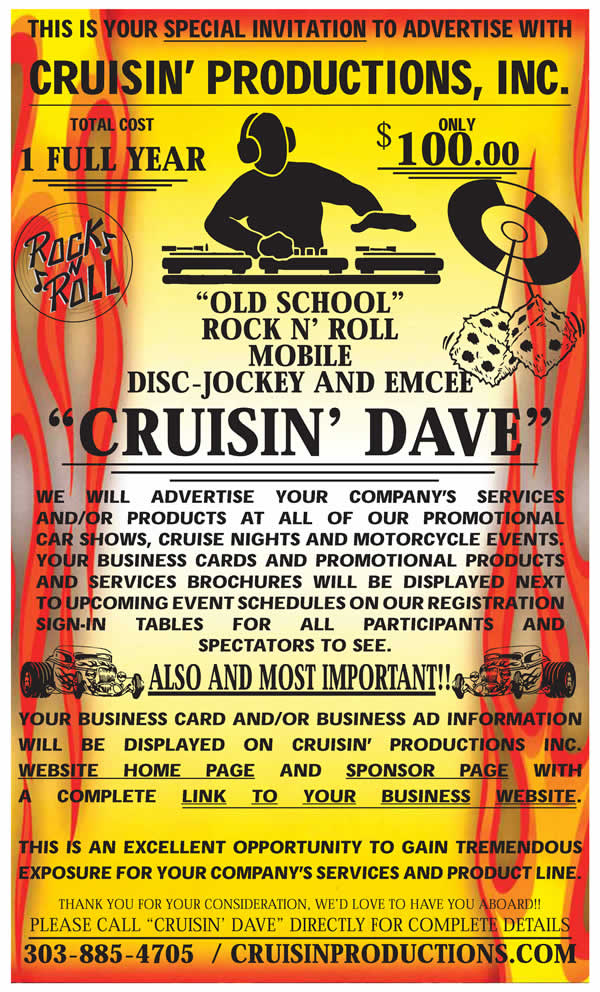 Cruisin Production Advertising Rates