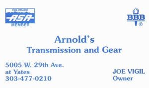 Arnolds Transmission and Gear