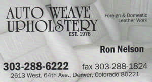 Auto Weave Upholstery