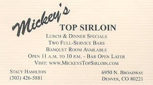 Mickey's Top Sirloin