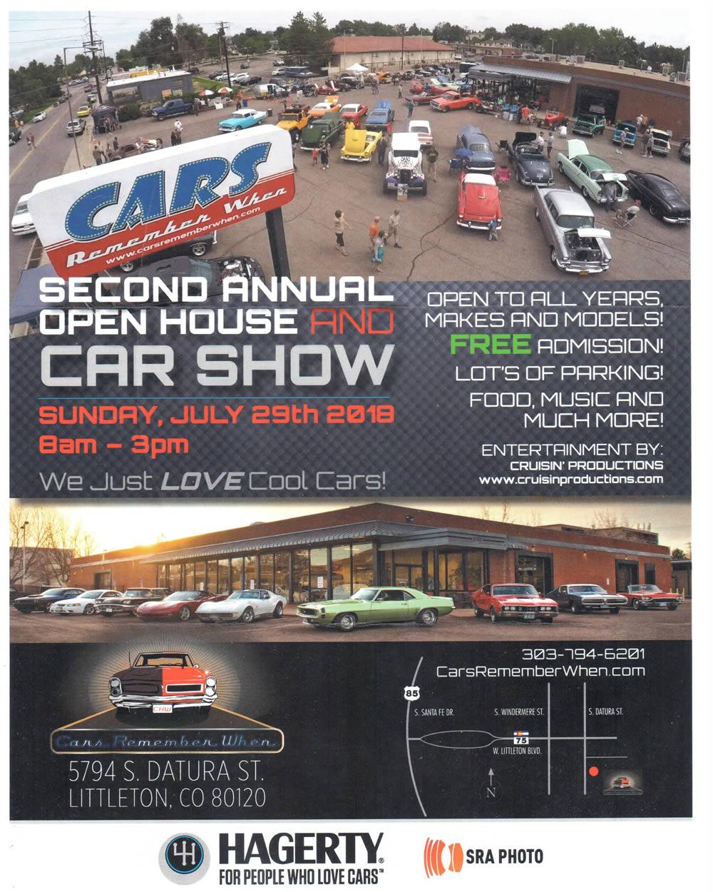 Cars Remember When Nd Annual Open House Car Show Cruisin - Littleton car show